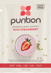 Purition Wholefood Nutrition With Strawberry DAIRY FREE SINGLE SACHET 40g