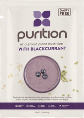 Purition Wholefood Nutrition With Blackcurrant DAIRY FREE CASE 8 x 40g