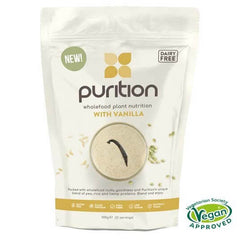 Purition Wholefood Nutrition With Vanilla DAIRY FREE 500g
