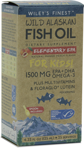 Wiley's Finest Wild Alaskan Fish Oil Elementary EPA for Kids 125ml