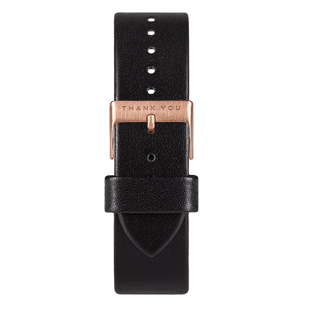 Black Leather Timepiece Bands