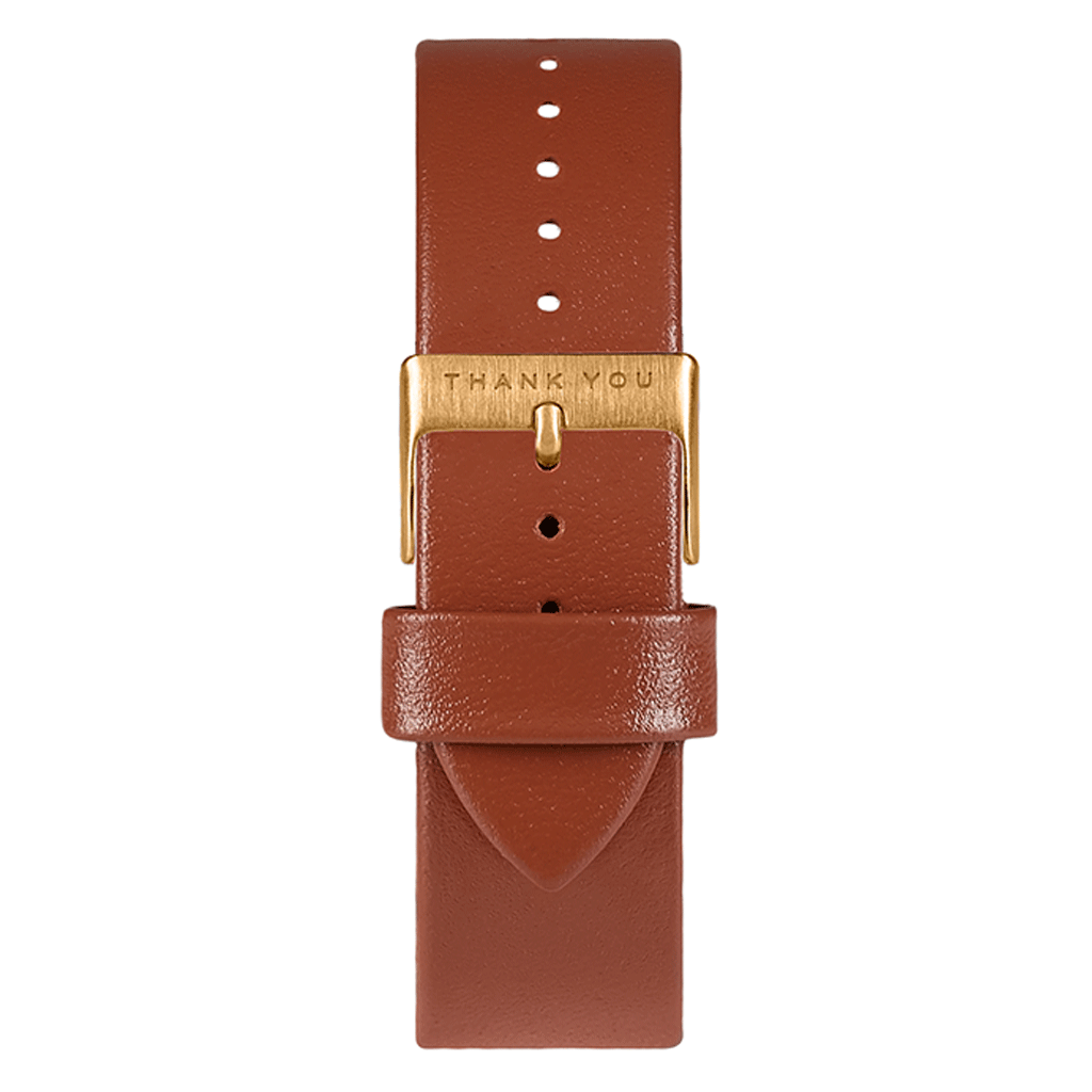 Dark Tan Leather Timepiece Bands
