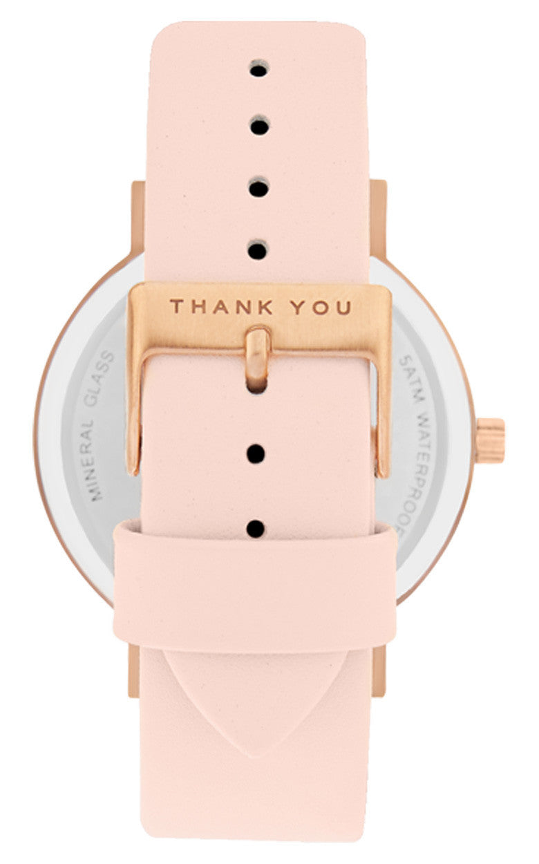 FREE Brushed Rose Gold - White Face