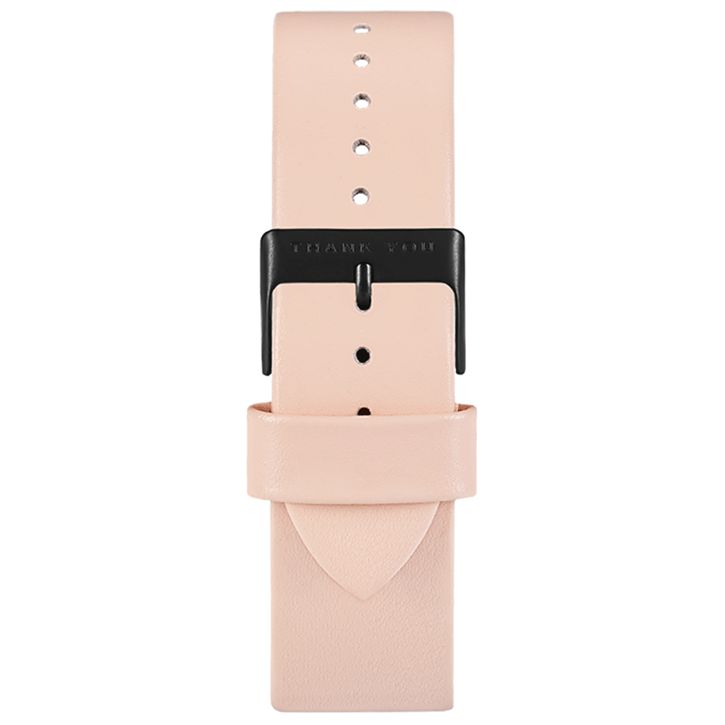 Pink Leather Timepiece Bands