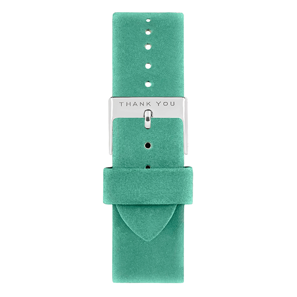 Teal Leather Timepiece Bands