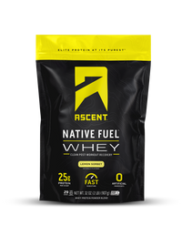 Ascent Native Whey Protein (2lb Bag) - Lemon Sorbet