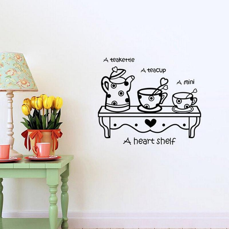 A Heart Shelf Removable Wall Stickers