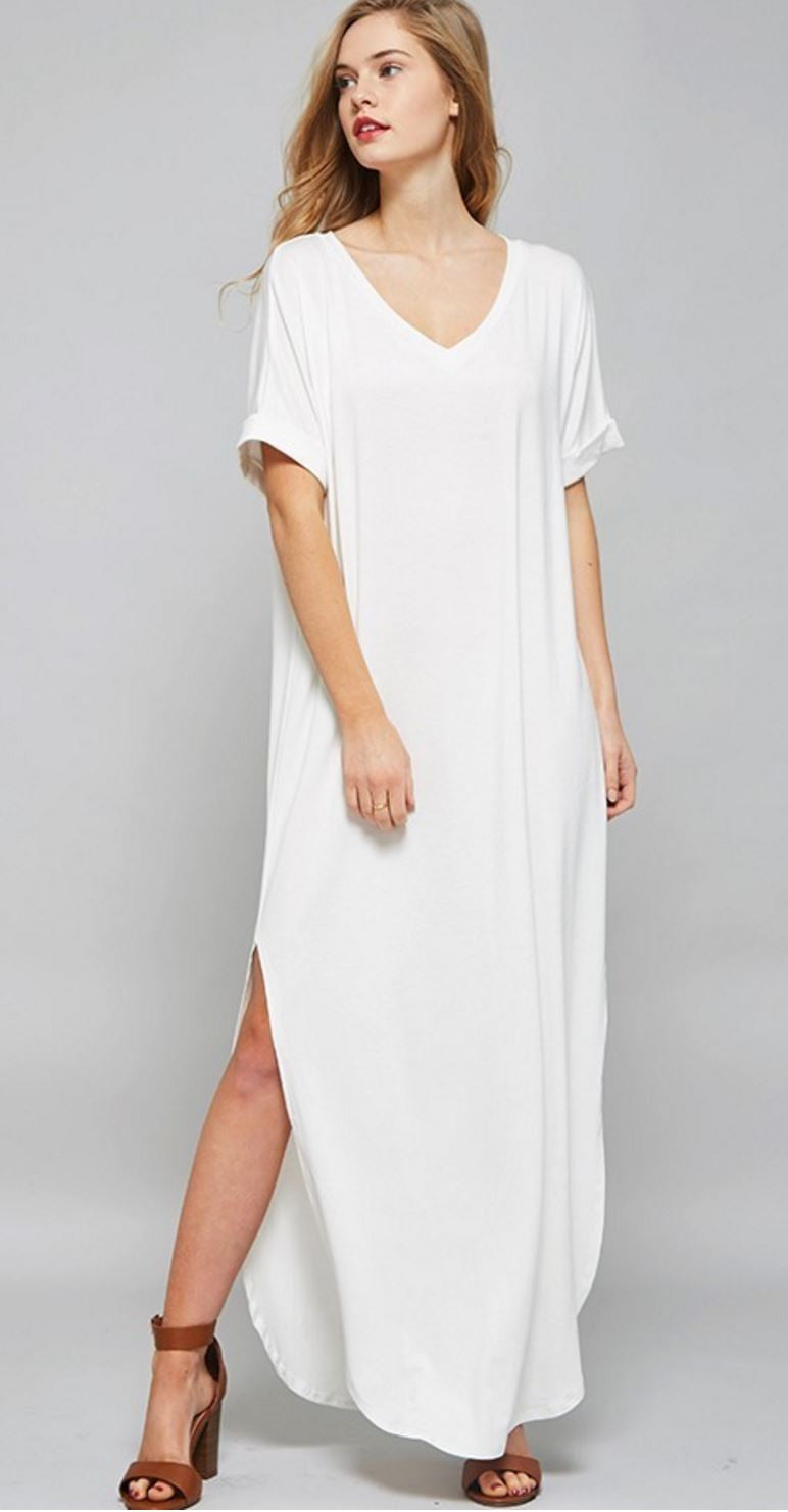 5ff0489c788 off white T-shirt dress – Lukas Boutique