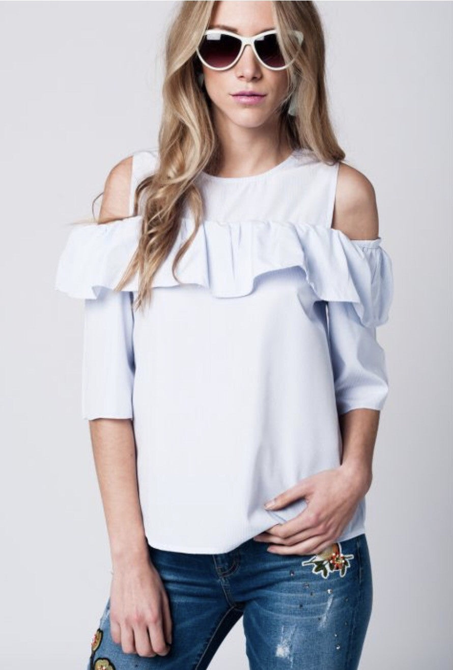 1a2db92817f98 Ruffled off shoulder top – Lukas Boutique
