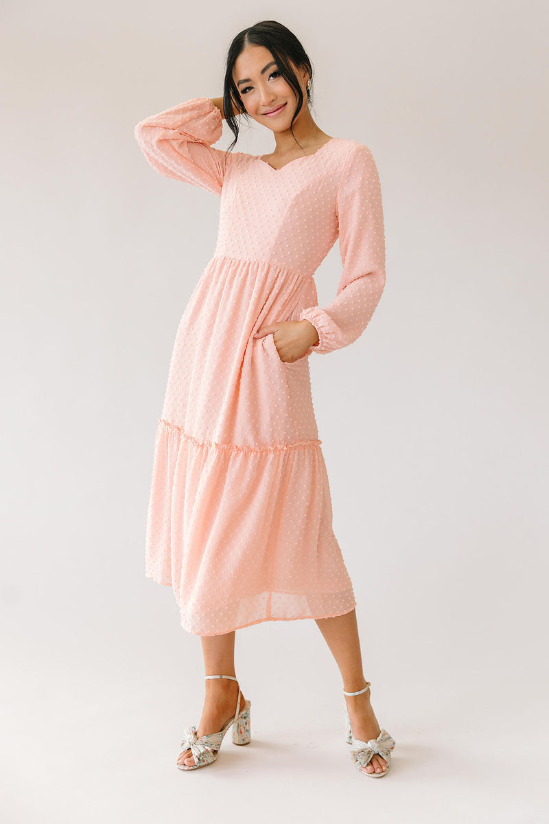 Sweetheart Dress in Blush