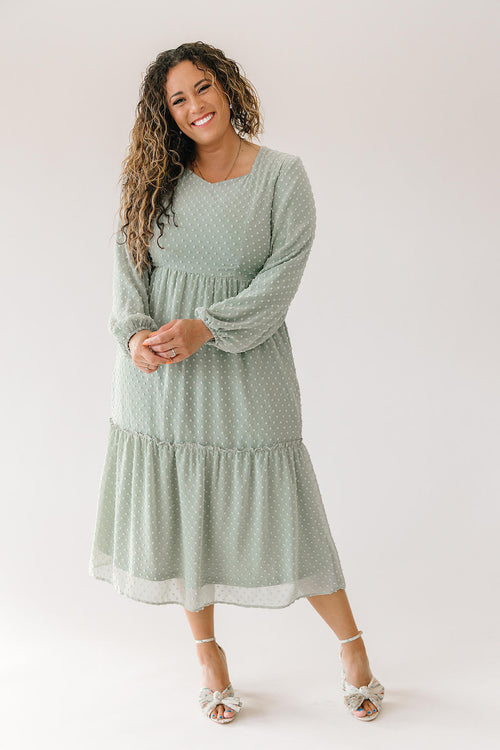 Sweetheart Dress in Sage