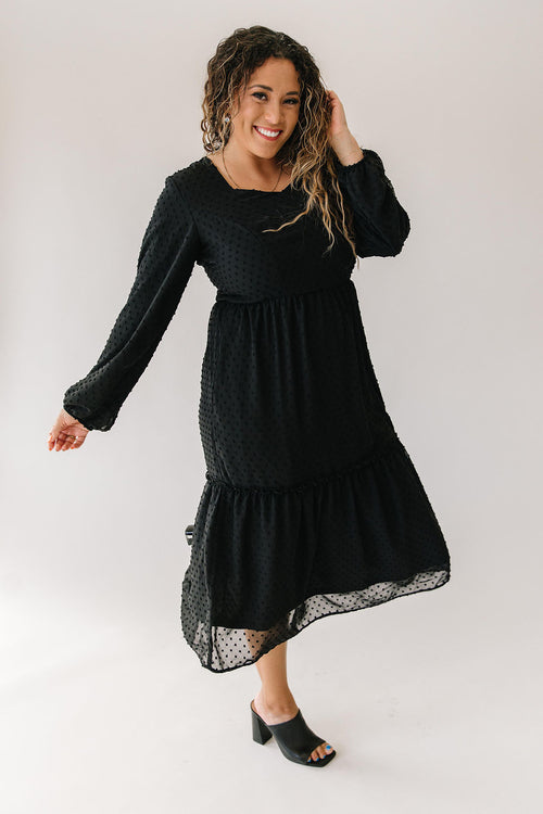 Sweetheart Dress in Black