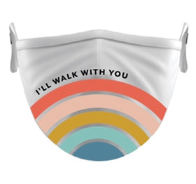 'I'll Walk With You' Rainbow Mask