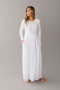 Q.NOOR LDS Temple dress white