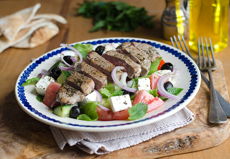 Lamb And Feta Greek Salad