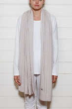 Oversize Cable Knit Scarf - Oatmeal