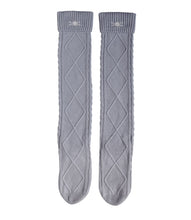 Cable Knit Socks - Steel Grey