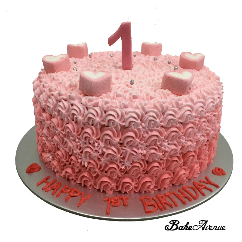 1st Birthday Ombre Cake