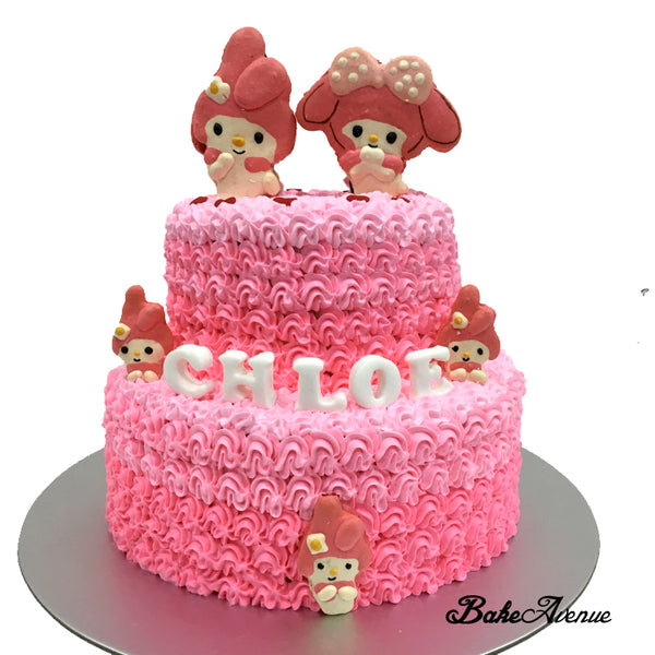 2-Tiers Cake (Pink Theme)