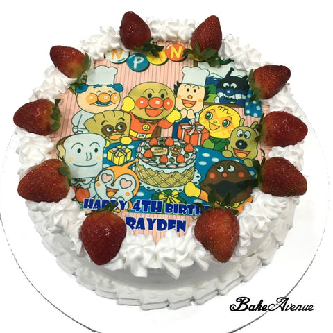 Anpanman Strawberry Cake