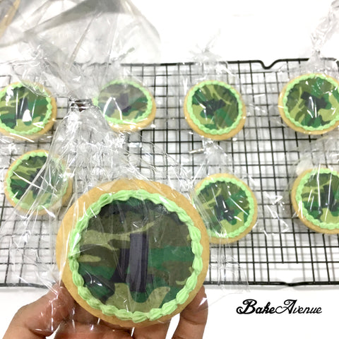 Army Theme icing image Cookies