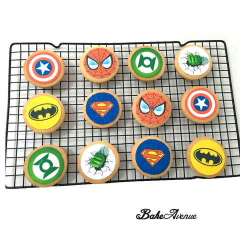 Super Hero icing image Cookies
