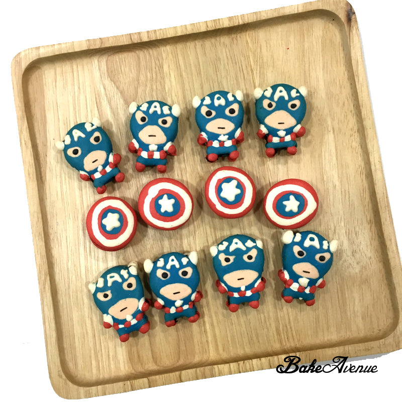 Avengers Macarons (Captain America Full body)