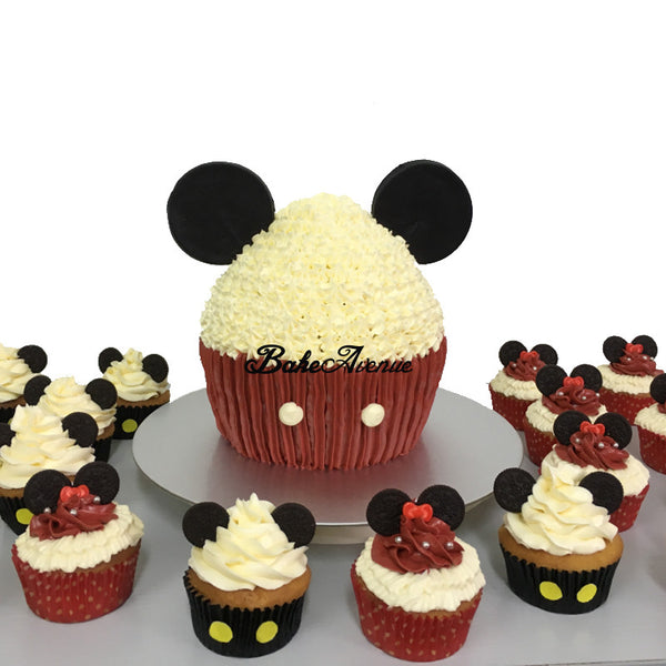 Mickey Minnie Cupcakes Giant Cupcake