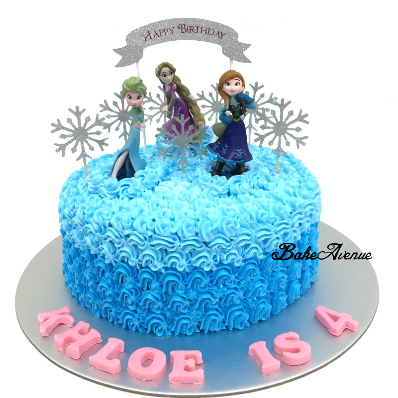Frozen Ombre Cake