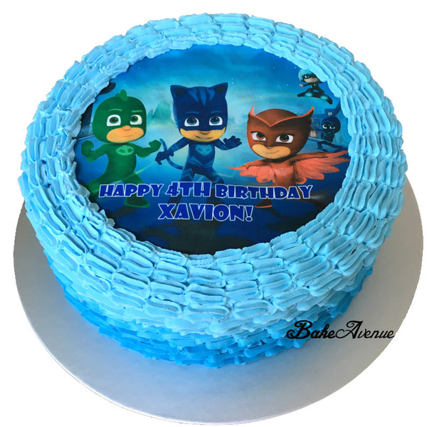 PJ Mask Ombre Cake