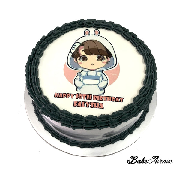 Kpop BTS (Jung Kook) icing image Ombre Cake (Smooth Finish)