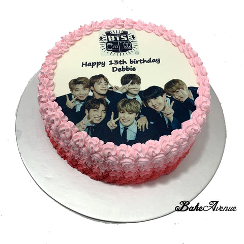 Kpop BTS icing image Ombre Cake