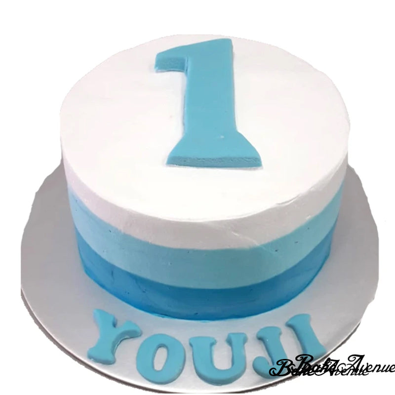 """1"" Fondant Topper Ombre Cake (Smooth Finish)"