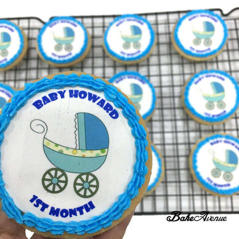 Baby Shower icing image Cookies (Boy)
