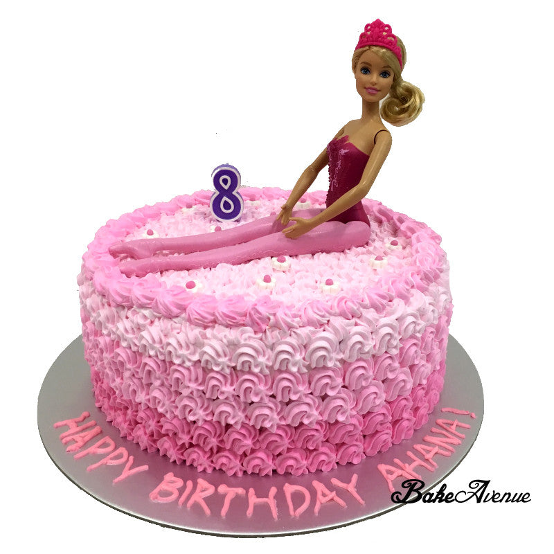 Barbie Doll Topper Cake