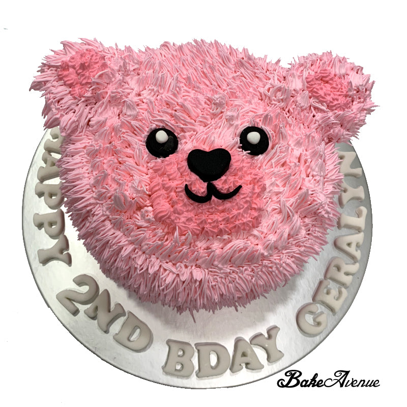 Bear Face Cake (Furry Pink)