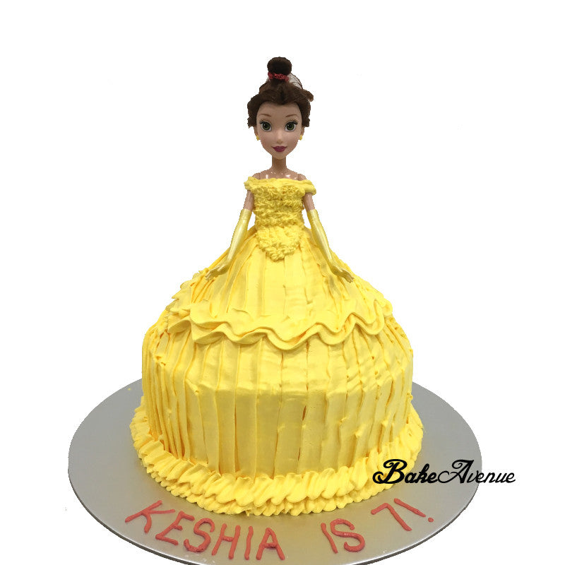 Princess Belle Doll Cake