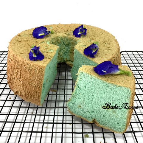 Corporate Orders - Singapore Flavored Chiffon Cakes (Blue Pea Flower Gula Melaka Cake)