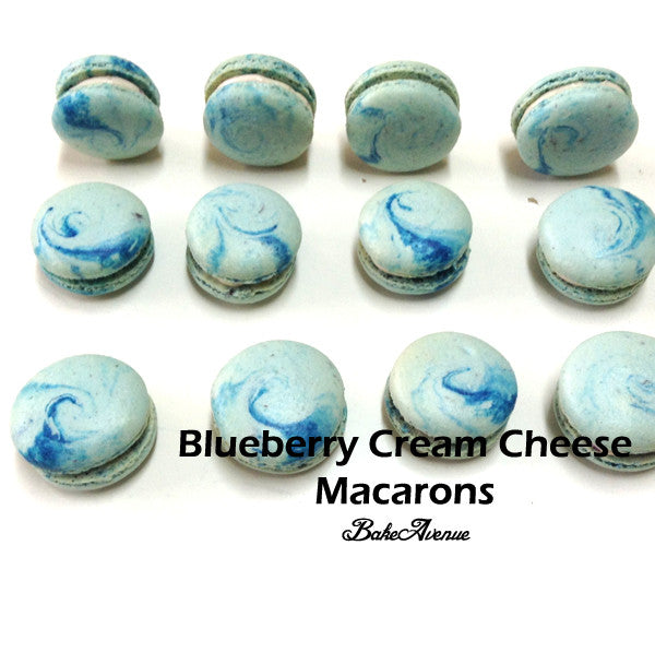 Blueberry Creamcheese Macarons