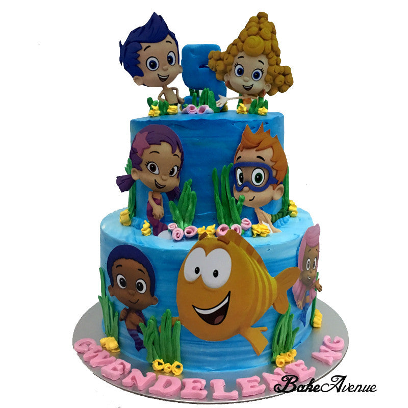 Bubble Guppies Paper Toppers 2-Tiers Cake