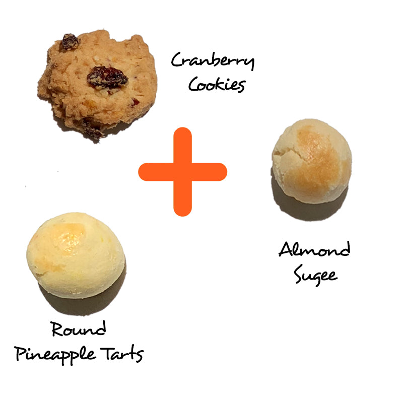 Prosperity Set @ $55 (Round Pineapple + Almond Sugee + Cranberry Cookies)