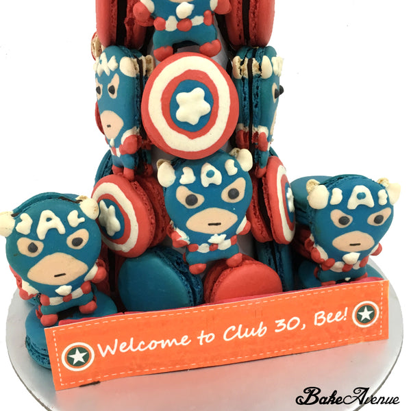 Avengers Macarons (Captain America) Tower