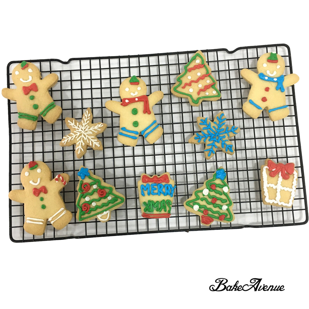 Christmas Cookies - Large Christmas Cookies decorated with royal icing
