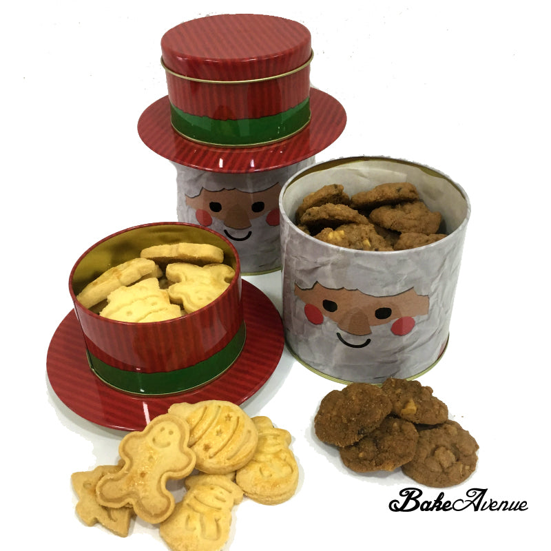 Christmas Cookies with Chocolate Chips Cookies (Santa/Snowman Tin)