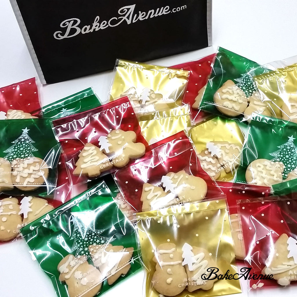 Christmas Cookies - Christmas Theme Assorted Butter Cookies in a Bag of 2