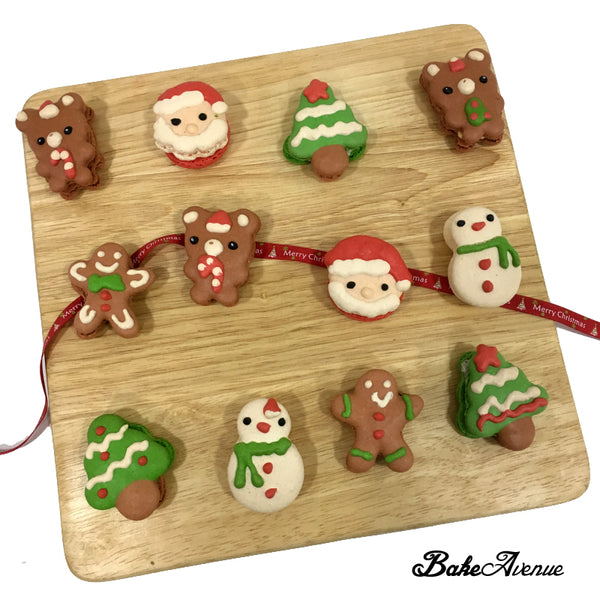 Christmas Macarons - Assorted Designs