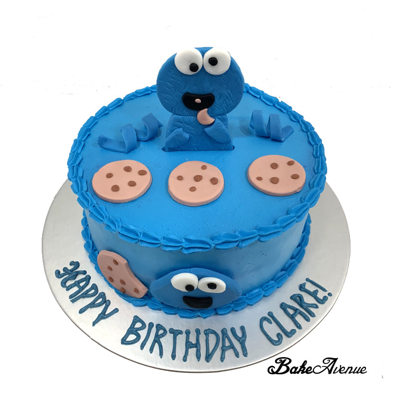 Sesame Street - Cookie Monster Fondant Topper Cake ...