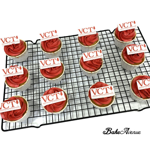 Corporate Orders - Cupcakes - Company Logo (icing image fondant topper)
