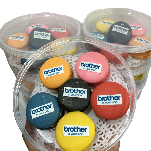 Corporate Orders - Macarons with Company Logo (Round) - Pack of 6