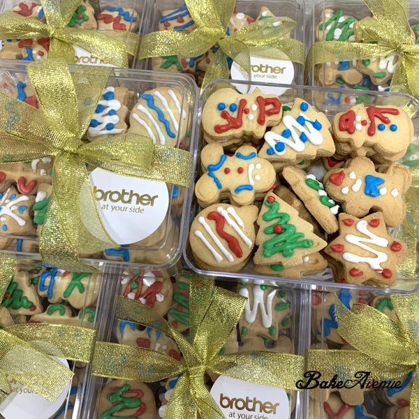 Corporate Orders - Christmas Assorted Cookies with royal icing in Box (With Company Logo Sticker)